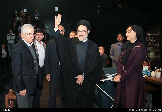 www.dustaan.com تصاویر/ سید محمد خاتمی در تالار حافظ