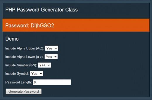 www.dustaan.com کد ساخت رمز های تصادفی در هنگام عضویت با  PHP password generator Script 1.2