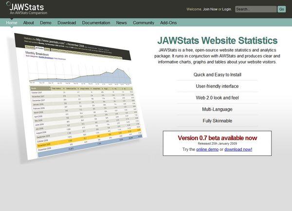 www.dustaan.com اسکریپت رایگان نمایش امار کاربران  JAWStats 0.7