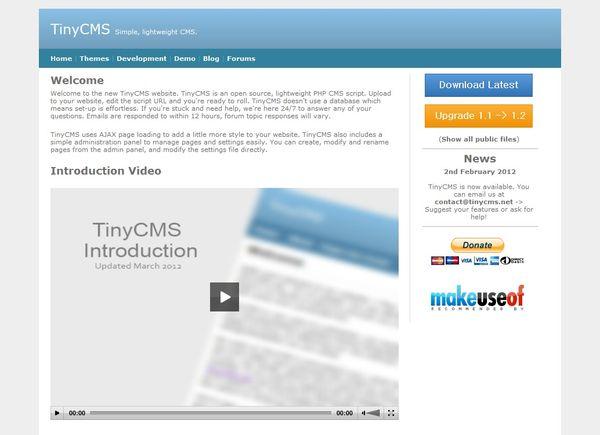 www.dustaan.com راه اندازی یک سایت ساده شخصی با اسکریپت  TinyCMS 1.4
