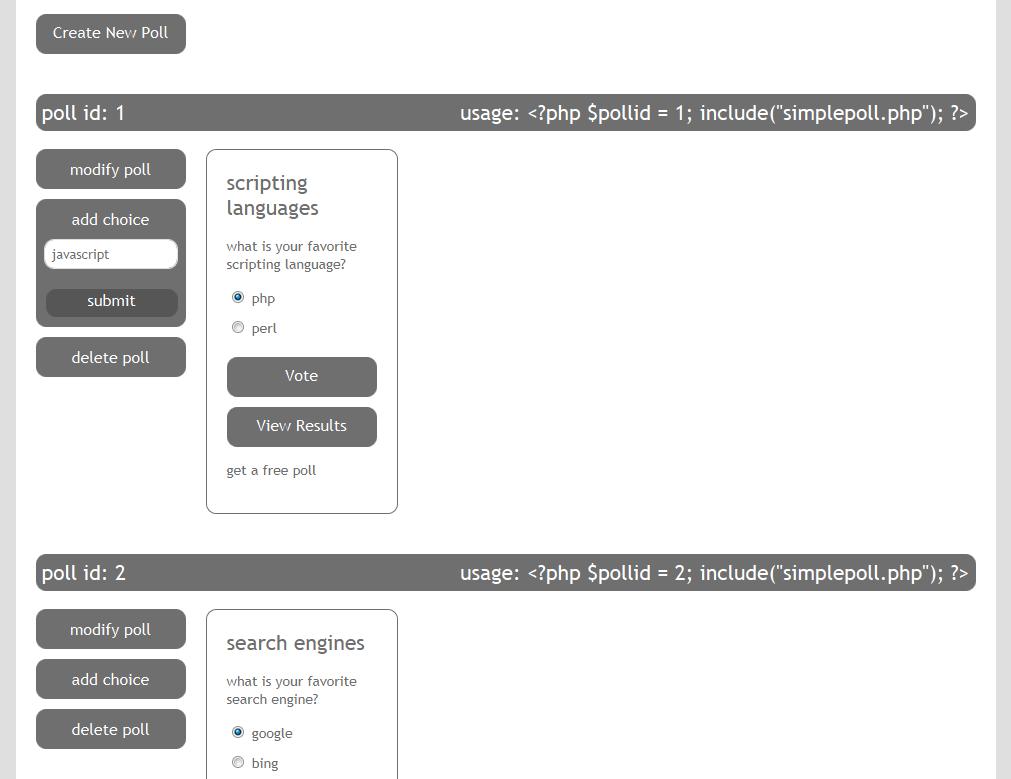 www.dustaan.com راه اندازی نظر سنجی های ساده برای سایت با استفاده از  Simple Poll