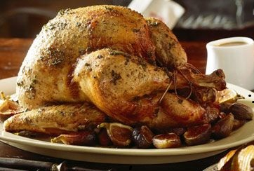 www.dustaan.com بوقلمون بریانی شکم پر با انجیر و سیب زمینی، شام شب کریسمس