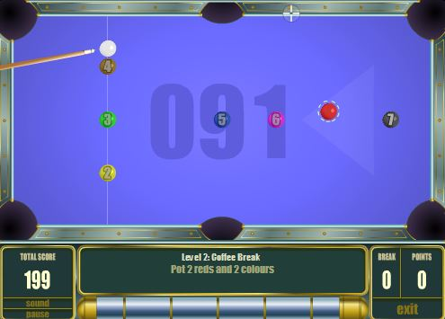 www.dustaan.com بازی زیبای بیلیارد به صورت فلش
