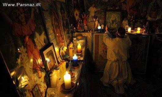 www.dustaan.com عکس هایی از مراسم جن گیری در...
