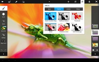 www.dustaan.com دانلود نرم افزار PhotoShop برای تبلت ها و تلفن های همراه