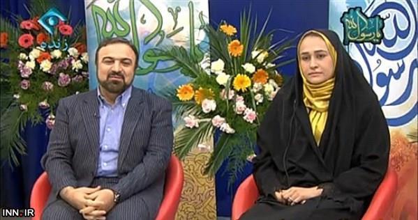 www.dustaan.com تصاویر مرتضی حیدری و همسرش زهره کاظمی در برنامه تلویزیونی
