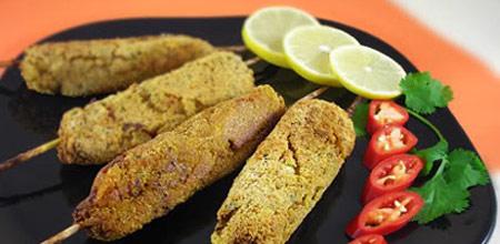 www.dustaan.com دستور تهیه کباب سبزیجات رژیمی بسیار خوشمزه!