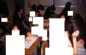 www.dustaan.com اجبار دختران برای حضور عریان در جلسه امتحان !!