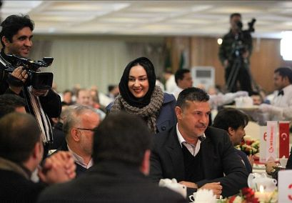 www.dustaan.com تصاویر علی دایی و هانیه توسلی در یک جشن