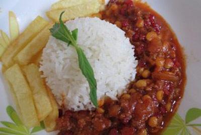 www.dustaan.com دستور تهیه قیمه رژیمی مخصوص گیاهخواران