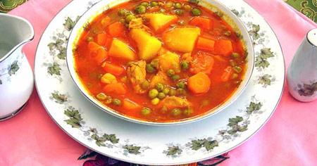 www.dustaan.com دستور تهیه خوراک نخود فرنگی
