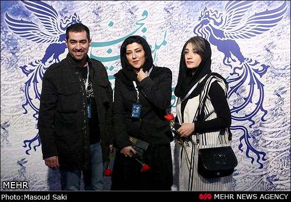 www.dustaan.com عکس خانوادگی چهره های معروف در افتتاحیه جشنواره فیلم فجر