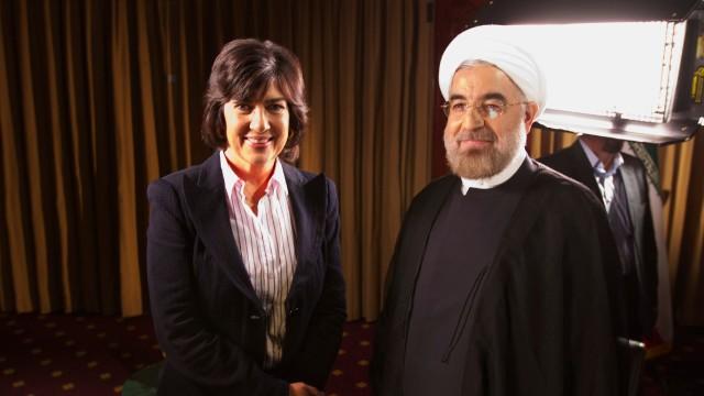 www.dustaan.com تصویر مجری معروف سی ان ان در کنار دکتر روحانی