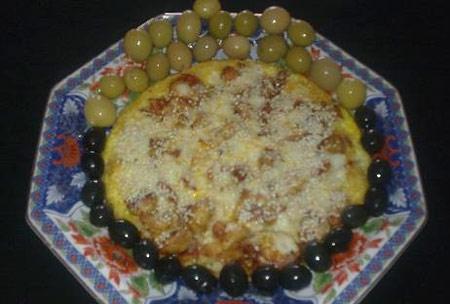 www.dustaan.com طرز تهیه پیتزا املت گل گلم