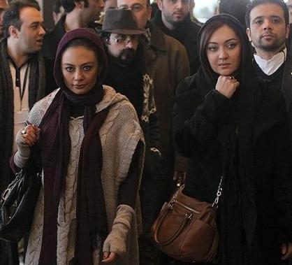 www.dustaan.com عکس هایی از نیکی کریمی و یکتا ناصر در حاشیه جشنواره فجر