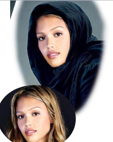بازیگران معروف و زیبای هالیوودی را با حجاب ببینید!