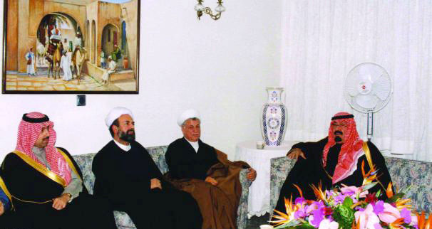 www.dustaan.com تصویری از پادشاه عربستان در منزل هاشمی رفسنجانی!