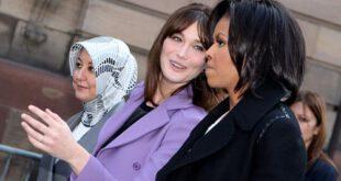 تصویری از همسران سه رئیس جمهور امریکا , ترکیه و فرانسه در کنار هم!