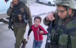 فیلم/ اقدام وحشیانه صهیونیست ها در دستگیری کودک 6 ساله فلسطینی