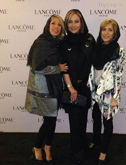 www.dustaan.com عکس/ حضور بازیگر زن ایرانی در شوی لوازم آرایشی پاریس!