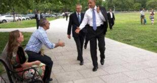 حرکت غیر منتظره اوباما مردم را شگفت زده کرد! +عکس