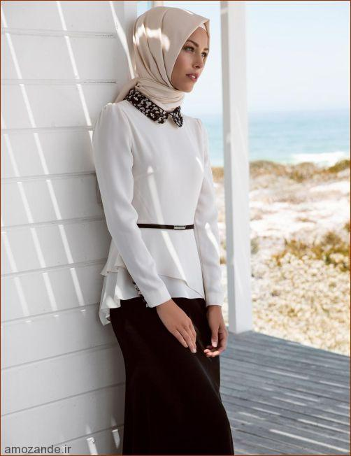 www.dustaan.com مدل های جدید لباس مجلسی دخترانه با حجاب اسلامی ۹۵