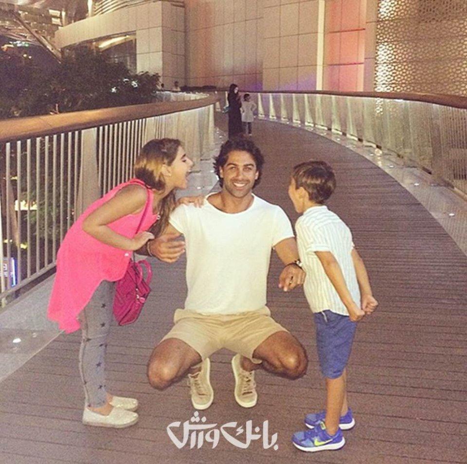 www.dustaan.com عکس جدید فرهاد مجیدی به همراه خانواده در دوبی