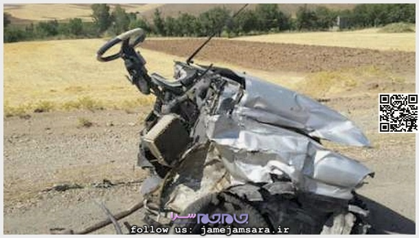 www.dustaan.com عکس/ پراید در طی سانحه ای هولناک ۲ تکه شد