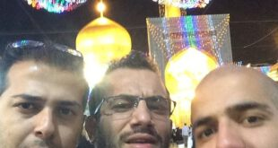 تصاویر/ امیر تتلو و دوستانش در حرم امام رضا (ع)!