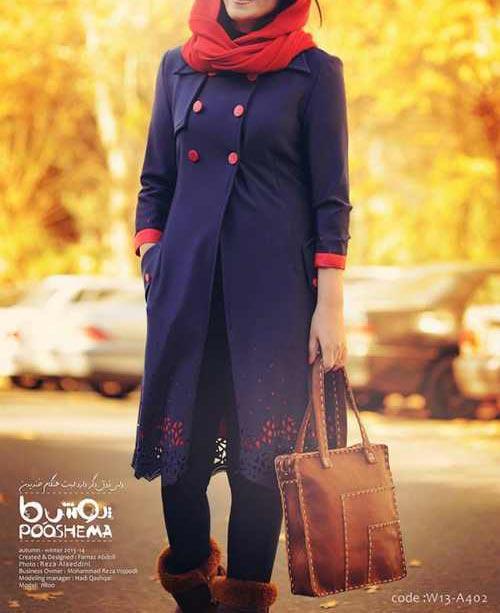 www.dustaan.com مدل زیبا و جدید مانتوی پاییزی سال ۱۳۹۵
