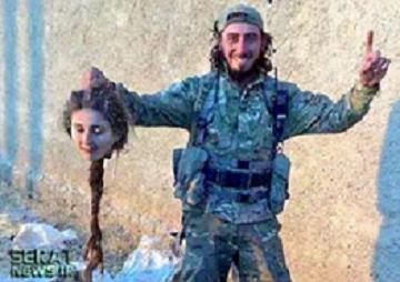 عکس/ بریدن بی رحمانه سر یک زن کرد توسط داعش +18