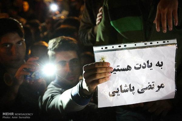 www.dustaan.com آغاز مراسم تشييع مرتضي پاشايي با حضور هنرمندان و بازيگران