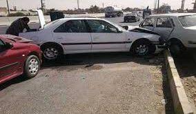 تصادف زنجیره ای 40 خودرو در مشهد