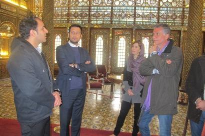 www.dustaan.com تصاویر/  کارلوس کیروش به همراه همسرش در کاخ گلستان