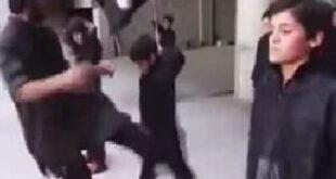 فیلم/ رفتار وحشیانه داعش با کودکان زیر ۱۶ سال در پادگان نظامی