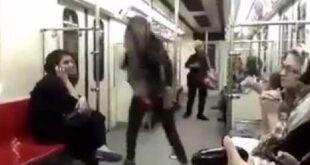 رقص دختر جوان در متروی تهران جهانی شد! +عکس