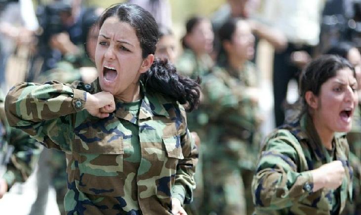 www.dustaan.com تصاویری جالب از زنان كرد در لباس نظامیان