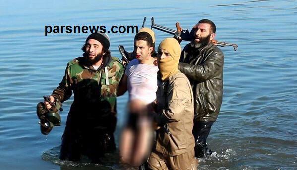 www.dustaan.com تصاویر/ صحنه وحشتناك اسیر شدن خلبان اردنی به دست داعش