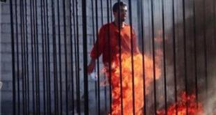 فیلم/ داعش خلبان اردنی را زنده زنده در اتش سوزاند (+۱۸)
