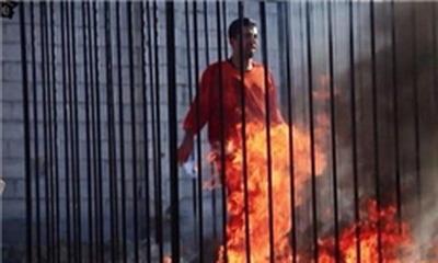 www.dustaan.com فیلم/  داعش خلبان اردنی را زنده زنده در اتش سوزاند (+۱۸)