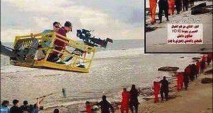 عکس/ پشت صحنه فیلم ذبح ۲۱ مصری