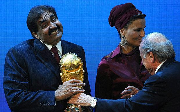 www.dustaan.com عکسی باورنکردنی از امیر قطر و همسرش