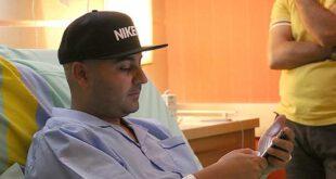 عکس/ بهنام صفوی در بیمارستان پیش از عمل جراحی
