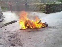 داماد با بی احتیاطی خود خانواده عروس را در اتش سوزاند