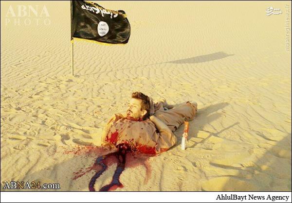 عکس/ ذبح وحشیانه مرد کروات به دست داعش