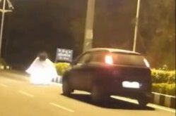 فیلم/ تصادف اتومبیل با یک روح در خیابان