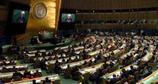 عکس/تعداد حاضرین در سخنرانی احمدی نژاد و روحانی در سازمان ملل