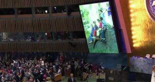 واکنش هیئت ایرانی به آواز خوانی «شکیرا» در مقر سازمان ملل+ عکس
