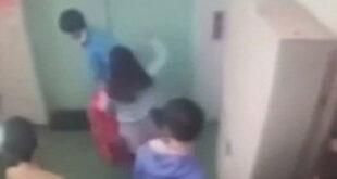تصاویر/ تجاوز جنسی به زن جوان در مقابل همکارانش