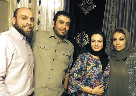 www.dustaan.com عکس/ گلاره عباسی و همسرش در کنار محسن چاوشی و همسرش!